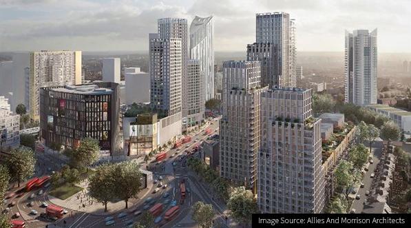 Image of the new Elephant & Castle Town Centre development