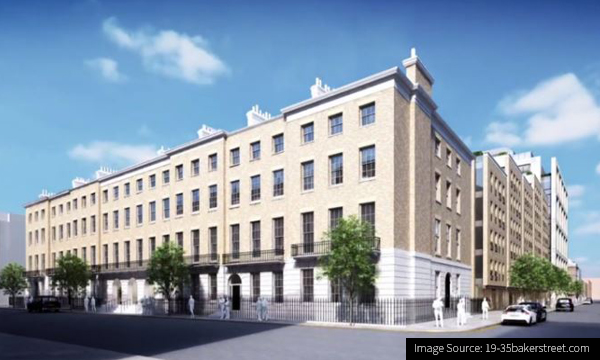 CG Image the planned George Street, London Redevelopment