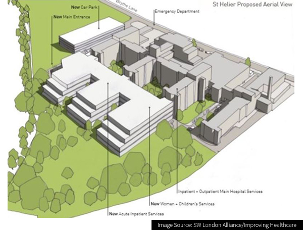 Plan of the Epsom and St Helier University Hospitals