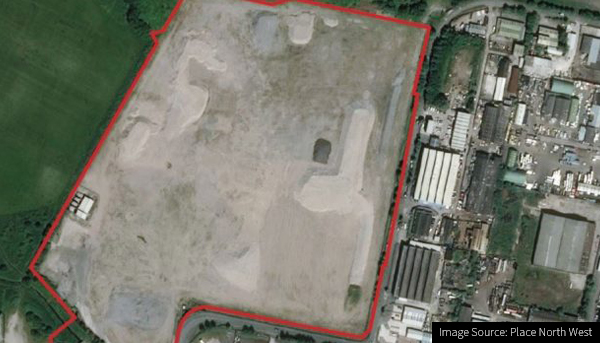 Image of the site of the new Knowsley Warehouse and Distribution Centre Development
