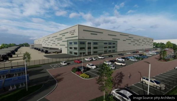CG Image of the new Next Warehouse in South Elmsall