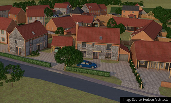 CG Image of a new hosing development in Roughton, Norfolk