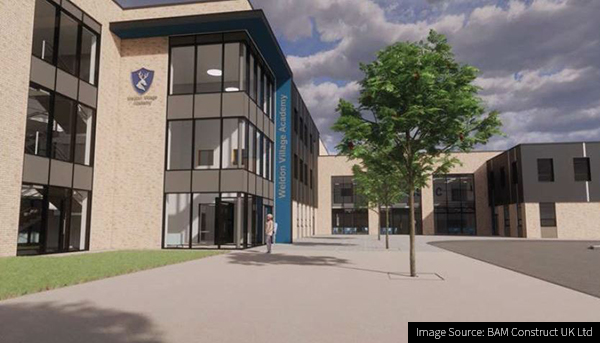 Image of Weldon Village Academy in Corby contract awarded to Royal BAM